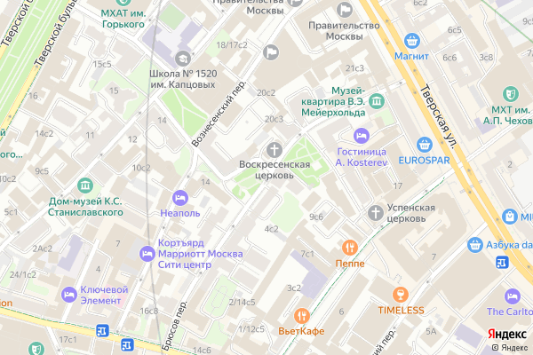 Ремонт телевизоров Брюсов переулок на яндекс карте