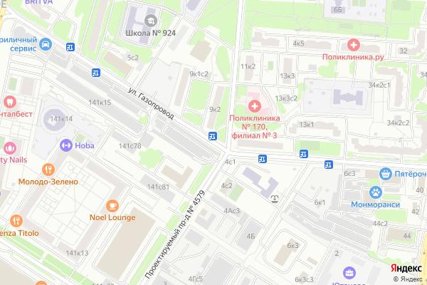 Ремонт телевизоров Улица Газопровод на яндекс карте