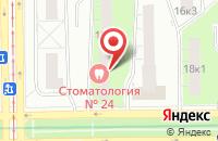 Схема проезда до компании Стоматологическая поликлиника №24 в Москве