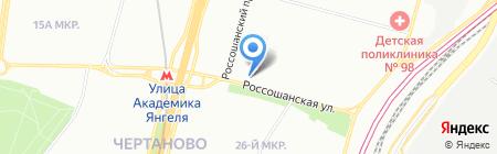 Рыболов на карте Москвы