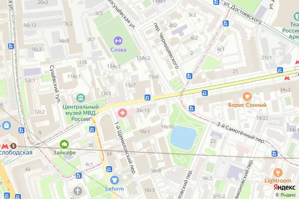 Ремонт телевизоров Улица Селезневская на яндекс карте