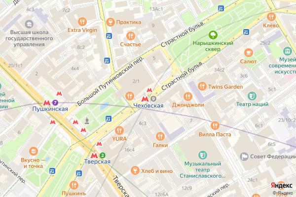 Ремонт телевизоров Метро Чеховская на яндекс карте