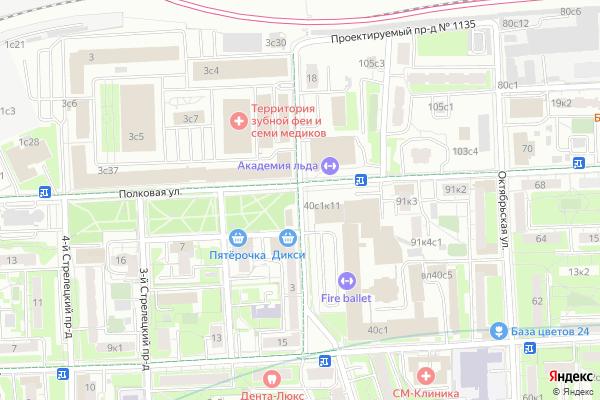 Ремонт телевизоров 1 й Стрелецкий проезд на яндекс карте