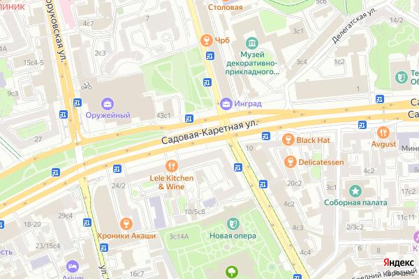 Ремонт телевизоров Улица Садовая Каретная на яндекс карте