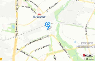 Местоположение на карте пункта техосмотра по адресу г Москва, ул Римского-Корсакова, д 15А к о