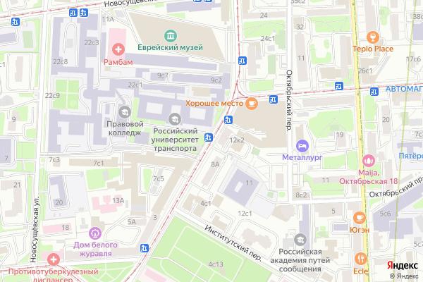 Ремонт телевизоров Улица Образцова на яндекс карте