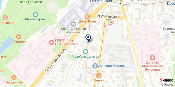 Московская Диабетическая Ассоциация на карте Москве