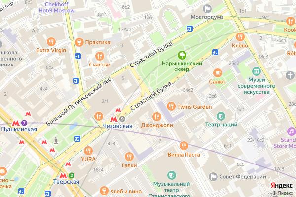 Ремонт телевизоров Страстной бульвар на яндекс карте