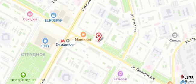 Карта расположения пункта доставки Москва Декабристов в городе Москва