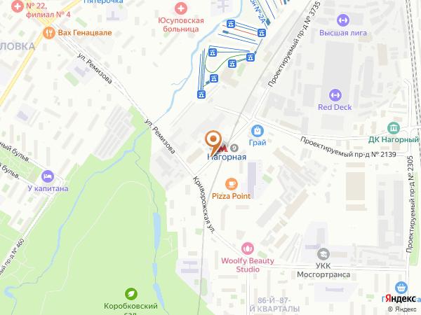 Остановка Метро Нагорная в Москве
