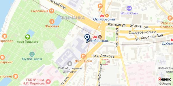 Типография на карте Москве