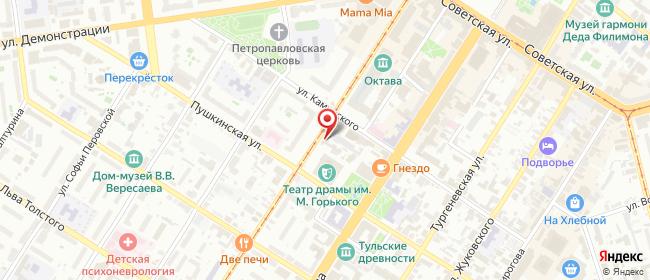 Карта расположения пункта доставки Тула Ф. Энгельса в городе Тула