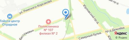 Золотая Роща на карте Москвы