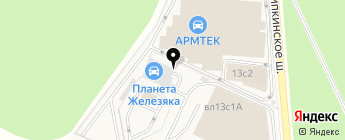 Планета Железяка на карте Москвы