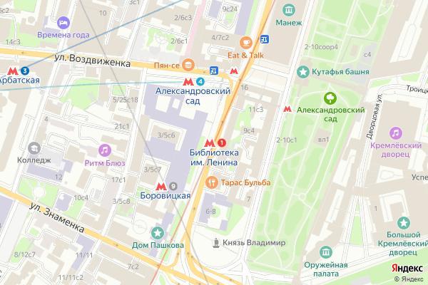Ремонт телевизоров Метро Библиотека имени Ленина на яндекс карте