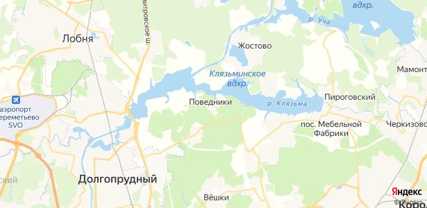 Поведники на карте