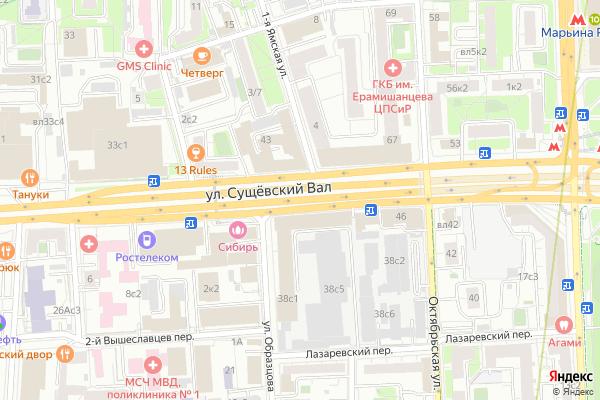 Ремонт телевизоров Улица Сущевский Вал на яндекс карте