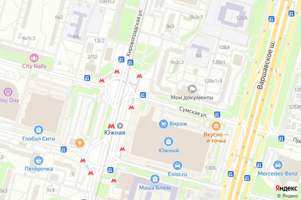 Ремонт телевизоров Улица Сумская на яндекс карте