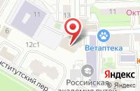 Схема проезда до компании СпецМаркет в Москве