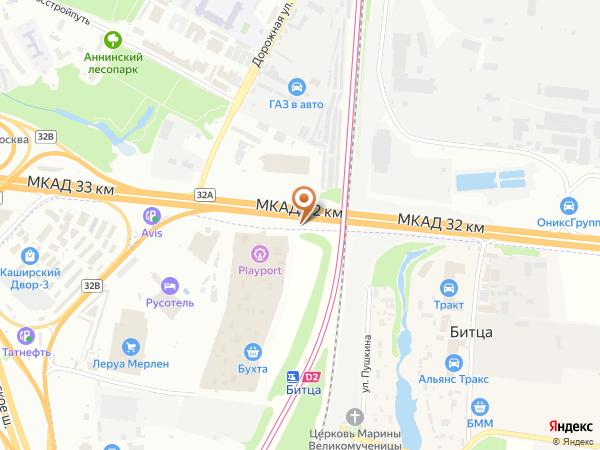 Остановка «Ст. МЦД Битца», 32-й километр Московской Кольцевой Автодороги (7922) (Москва)