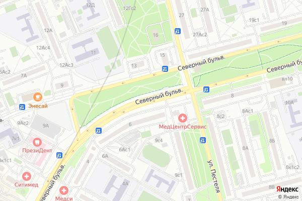 Ремонт телевизоров Северный бульвар на яндекс карте