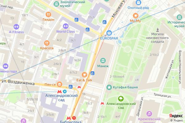 Ремонт телевизоров Улица Моховая на яндекс карте