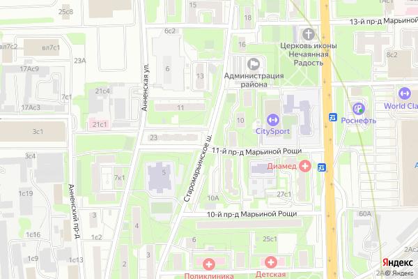 Ремонт телевизоров Старомарьинское шоссе на яндекс карте