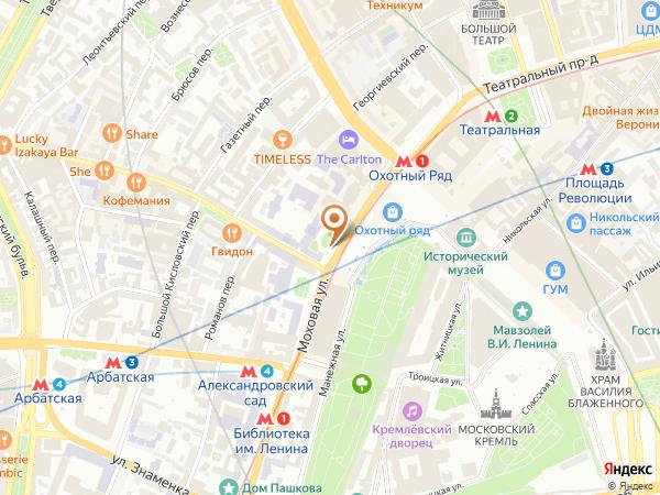 Остановка «Манежная пл.», Моховая улица (1001368) (Москва)