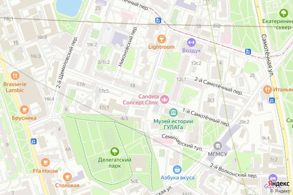 Ремонт телевизоров 1 й Самотечный переулок на яндекс карте