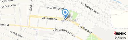 Лана на карте Донецка