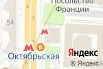 Схема проезда до компании Станция Октябрьская в Москве