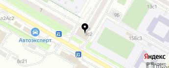 Хорда Автозапчасти на карте Москвы