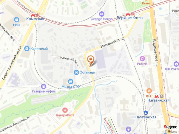 Остановка «Автодормехбаза», Нагорный проезд (7497) (Москва)