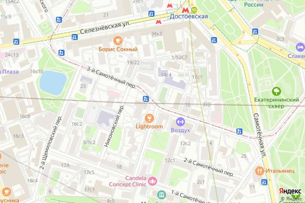 Ремонт телевизоров 3 й Самотечный переулок на яндекс карте