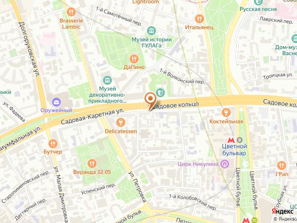 Остановка Театр кукол им. Образцова в Москве