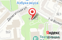 Схема проезда до компании Джаст Продакшн в Москве