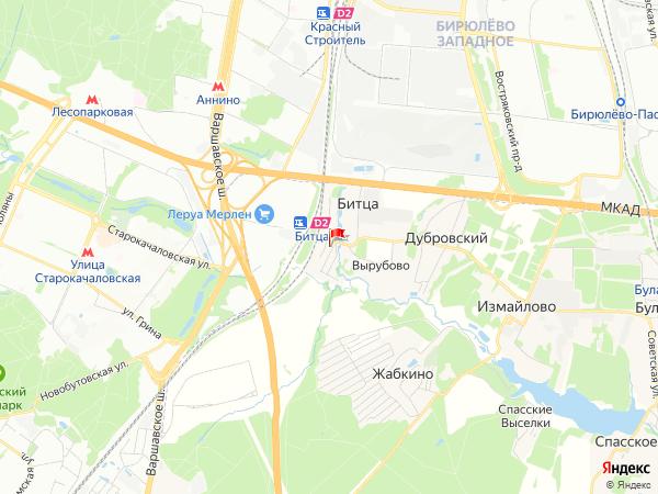 Карта населенный пункт Битца