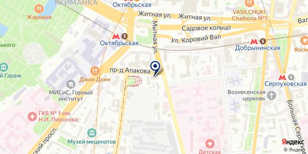 ПРЕДСТАВИТЕЛЬСТВО ИРКУТСКЭНЕРГО на карте Москве