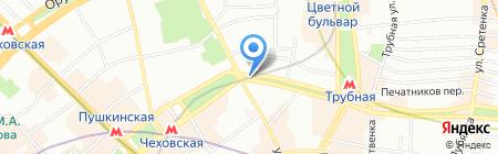 Поехали на карте Москвы