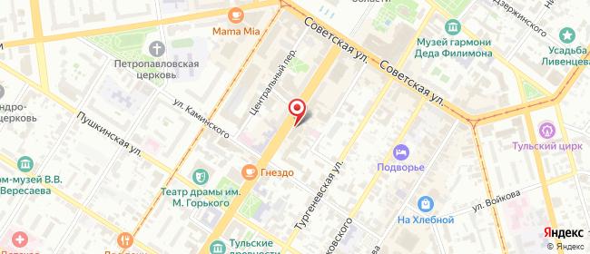 Карта расположения пункта доставки Lamoda/Pick-up в городе Тула