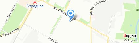 Автостоянка на ул. Декабристов на карте Москвы