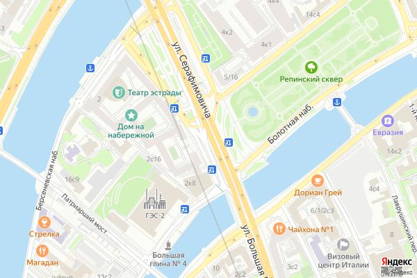 Ремонт телевизоров Улица Серафимовича на яндекс карте