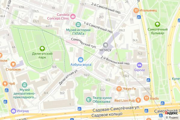 Ремонт телевизоров Улица Делегатская на яндекс карте