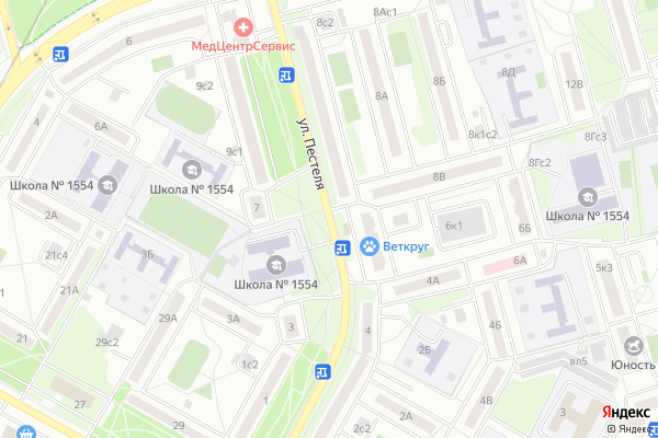 Ремонт телевизоров Улица Пестеля на яндекс карте