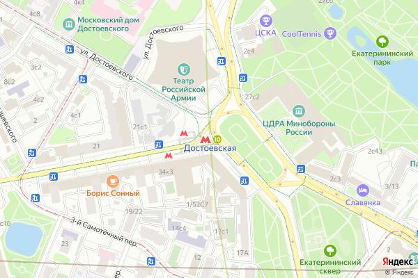Ремонт телевизоров Метро Достоевская на яндекс карте