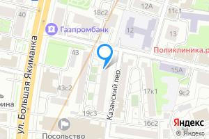 Двухкомнатная квартира в Москве Казанский переулок, 2-4