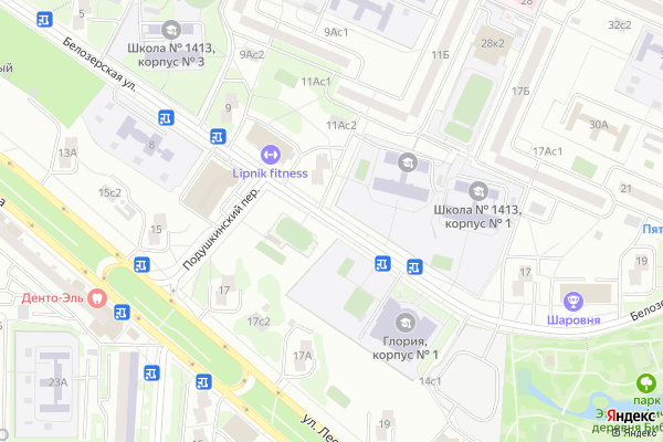 Ремонт телевизоров Улица Белозерская на яндекс карте