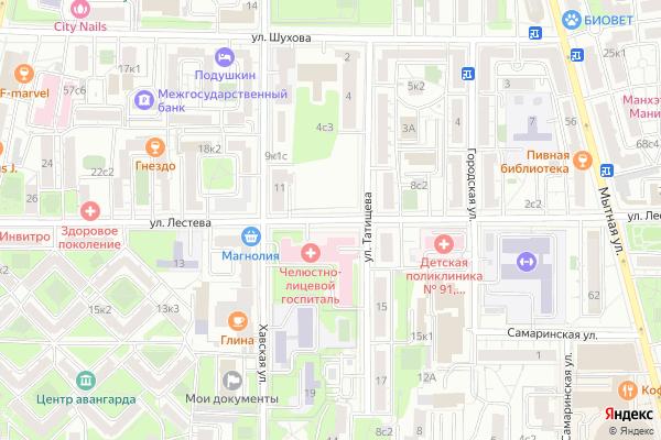 Ремонт телевизоров Улица Лестева на яндекс карте