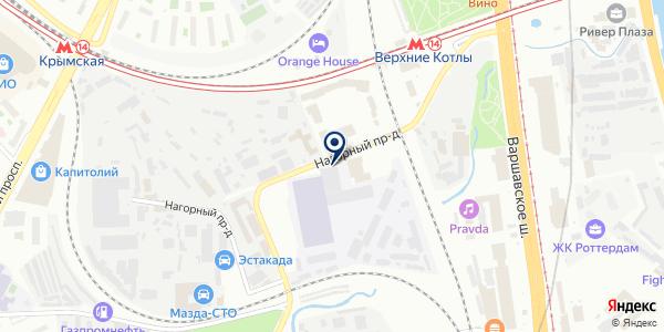 Веселая Затея на карте Москве