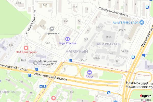 Ремонт телевизоров Район Нагорный на яндекс карте